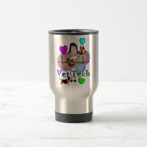 Gráficos grabados en relieve únicos del estilo de  tazas de café
