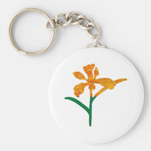 Gráficos LINDOS de la flor: BELLEZA en simplicidad Llaveros Personalizados