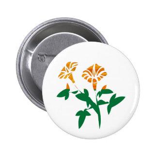 Gráficos LINDOS de la flor: BELLEZA en simplicidad Pin Redondo 5 Cm