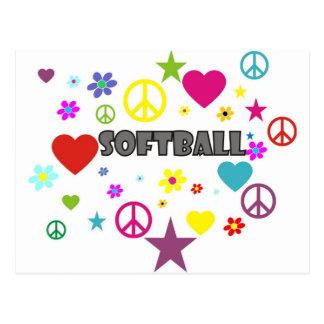 Gráficos mezclados del softball postales