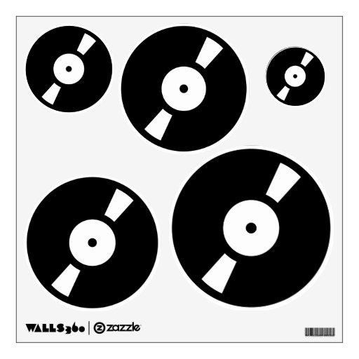 gráficos retros del disco de vinilo