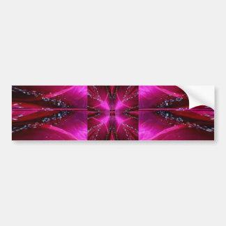 Gráficos simples elegantes - color de rosa rosado  pegatina de parachoque