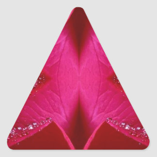 Gráficos simples elegantes - color de rosa rosado  calcomanía trianguladas personalizadas