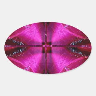 Gráficos simples elegantes - color de rosa rosado  colcomanias de ovaladas