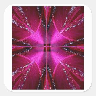 Gráficos simples elegantes - color de rosa rosado  calcomanías cuadradases