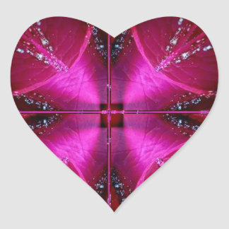 Gráficos simples elegantes - color de rosa rosado pegatina en forma de corazón