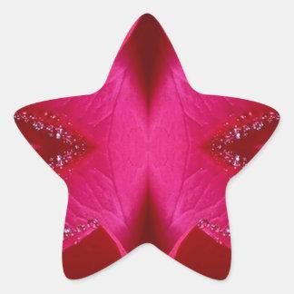 Gráficos simples elegantes - color de rosa rosado pegatina en forma de estrella