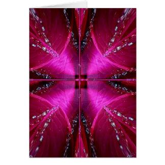 Gráficos simples elegantes - color de rosa rosado tarjeta de felicitación