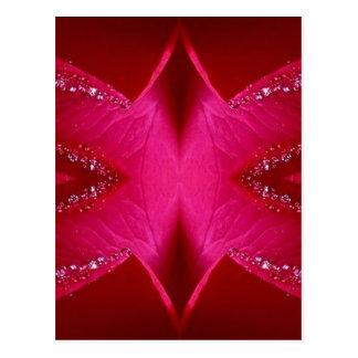 Gráficos simples elegantes - color de rosa rosado postal