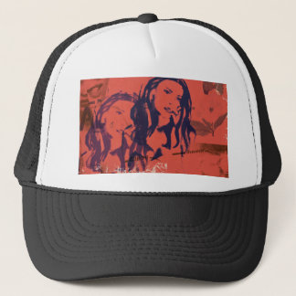 grafik girl cover art trucker hat