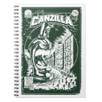 Grafitera CANZILLA - Retro SciFi monstruo cómic Libro De Apuntes