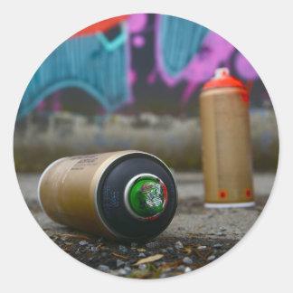 Grafiti bordador pegatina redonda