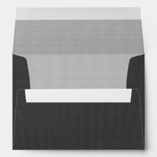 Grafito blanco y gris negro de la fibra de carbono sobres
