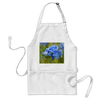 Grafito - flores azules del verano delantal
