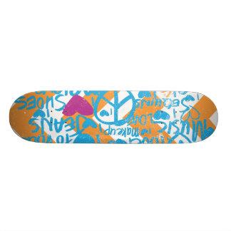 Grafitti Aqua-Purple Custom Skateboard
