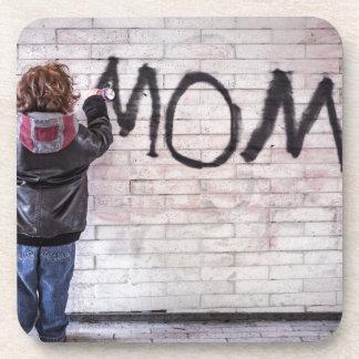 Grafitti For Mom Beverage Coaster