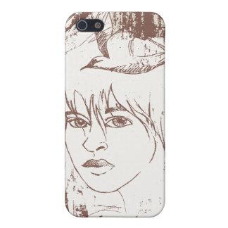 Grafitti Girl in Sepia iPhone 5 Cases
