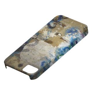 Grafitti Grunge in Blue and Brown iPhone 5 Case