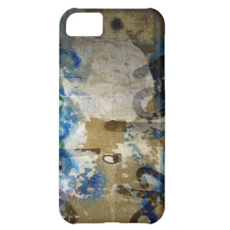 Grafitti Grunge in Blue and Brown iPhone 5C Cases