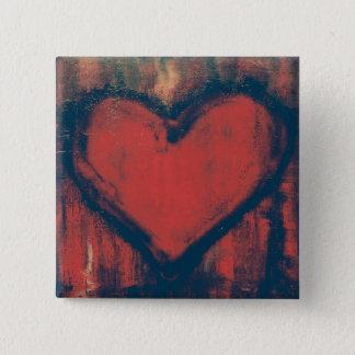 Grafitti Heart Art Button