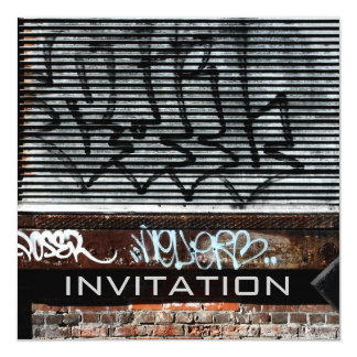 grafitti loading dock invitation