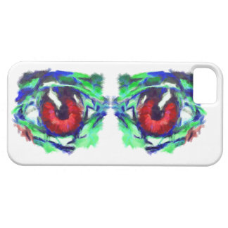 Grafitti Red Eyes Art Hand Painted iPhone 5 Case