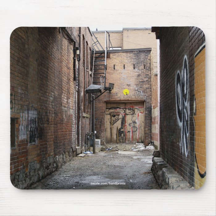 "Grafitti Wall Urban ""Gallery Alley"" Mouse Mat Mouse Pad"