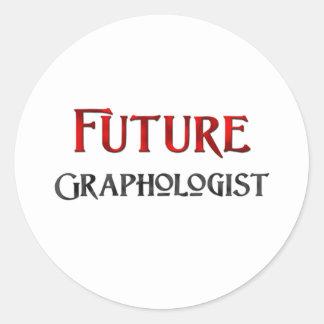 Grafólogo futuro pegatina redonda