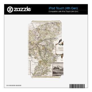 Grafschaft Mark 1791 Friedrich - Old map Decal For iPod Touch 4G