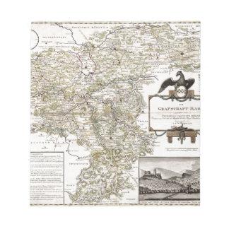 Grafschaft Mark 1791 Friedrich - Old map Notepad