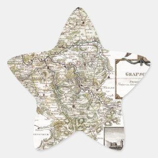 Grafschaft Mark 1791 Friedrich - Old map Star Sticker