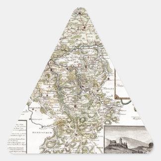 Grafschaft Mark 1791 Friedrich - Old map Triangle Sticker