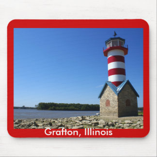 Grafton, IL Lighthouse Mouse Pad