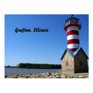 Grafton, IL Lighthouse Postcard