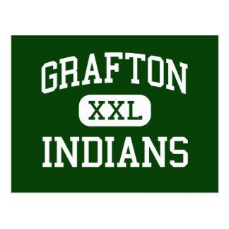 Grafton - Indians - High - Grafton Massachusetts Postcard