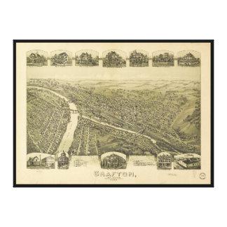 Grafton West Virginia by Fowler & Downs (1898) Canvas Print