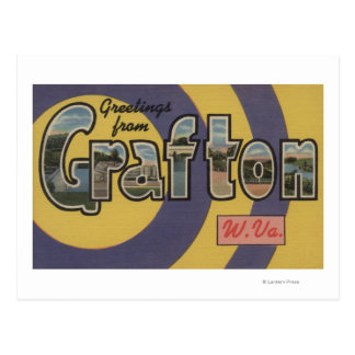 Grafton, West Virginia - Large Letter Scenes Post Cards