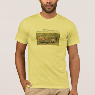Grafton, WV 1920s postcard - on yellow T-shirt