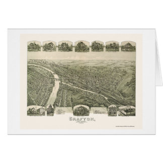 Grafton, WV Panoramic Map - 1898 Greeting Card