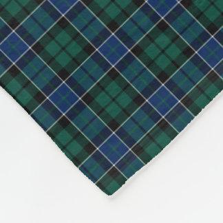 Graham Clan Blue, Green, and Black Tartan Fleece Blanket