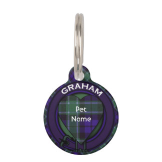 Graham clan Plaid Scottish tartan Pet ID Tag