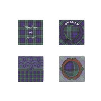 Graham clan Plaid Scottish tartan Stone Magnet