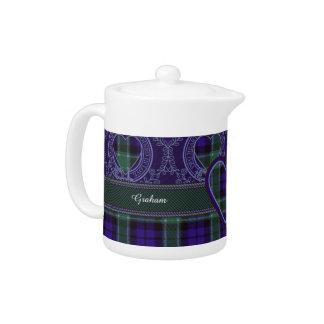Graham clan Plaid Scottish tartan Teapot