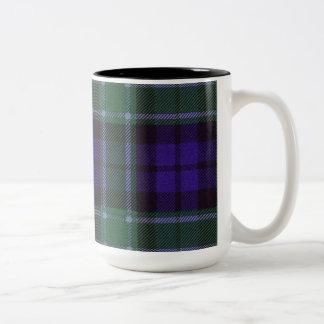 Graham clan Plaid Scottish tartan Two-Tone Coffee Mug