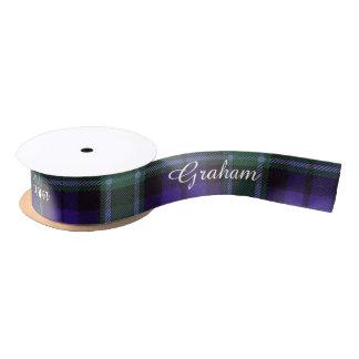 Graham clan Plaid Scottish tartan Satin Ribbon