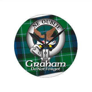 Graham Clan Round Clock
