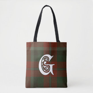 Graham Clan Tartan Monogram Tote Bag