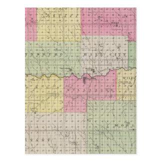 Graham County, Kansas Postcard