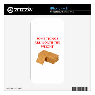 graham crackers decals for the iPhone 4S