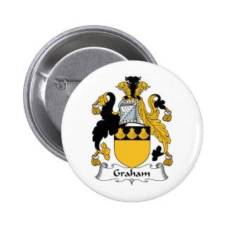 Graham Family Crest 2 Inch Round Button